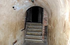 Corridor and stairs leading to the eerie cells.